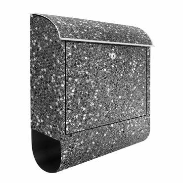 Briefkasten - Glitzer Konfetti in Schwarz-Weiß