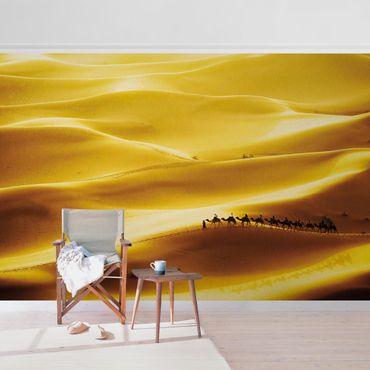 Metallic Tapete  - Golden Dunes