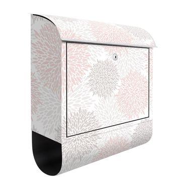 Briefkasten - Große gezeichnete Pusteblumen in Rosa