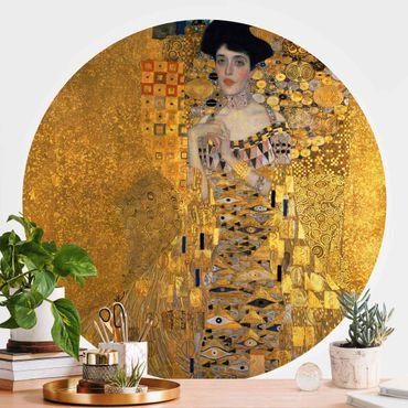 Runde Tapete selbstklebend - Gustav Klimt - Adele Bloch-Bauer I