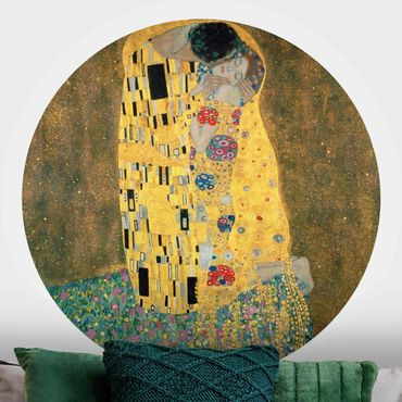 Runde Tapete selbstklebend - Gustav Klimt - Der Kuß