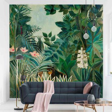 Fototapete - Henri Rousseau - Dschungel am Äquator