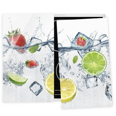 Herdabdeckplatte Glas - Frucht Cocktail