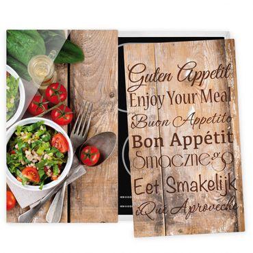 Herdabdeckplatte Glas - Guten Appetit