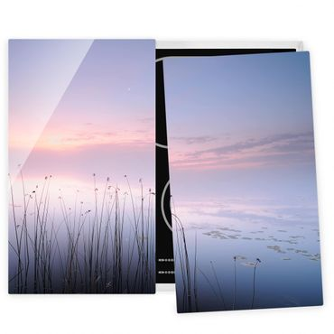 Herdabdeckplatte Glas - Idylle am See