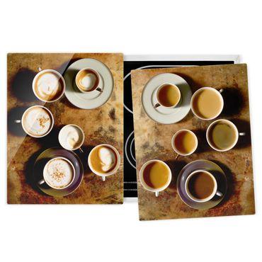 Herdabdeckplatte Glas - Kaffeetassen