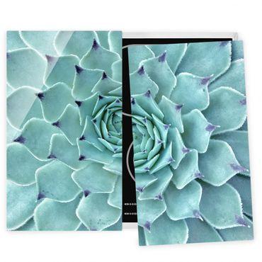 Herdabdeckplatte Glas - Kaktus Agave
