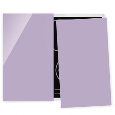Herdabdeckplatte Glas - Lavendel