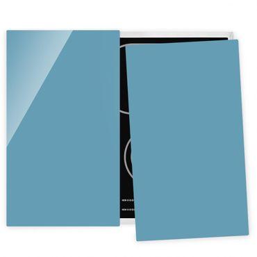 Herdabdeckplatte Glas - Meerblau