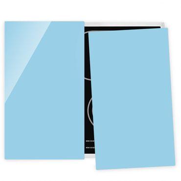 Herdabdeckplatte Glas - Pastellblau
