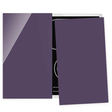 Herdabdeckplatte Glas - Rotviolett