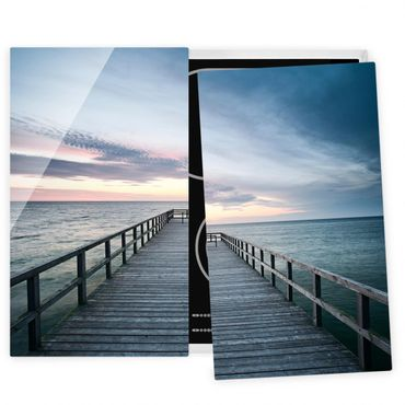 Herdabdeckplatte Glas - Steg Promenade
