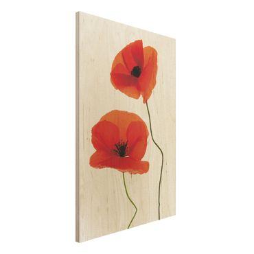 Holzbild - Charming Poppies - Hoch 2:3