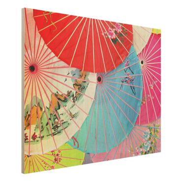 Holzbild - Chinese Parasols - Quer 4:3