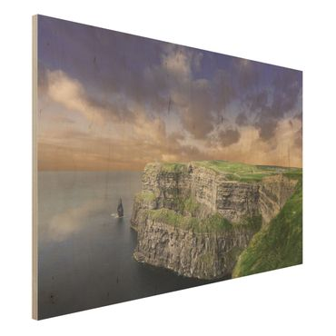 Holz Wandbild - Cliffs Of Moher - Quer 3:2