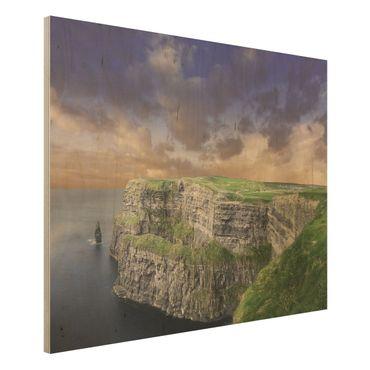 Holz Wandbild - Cliffs Of Moher - Quer 4:3