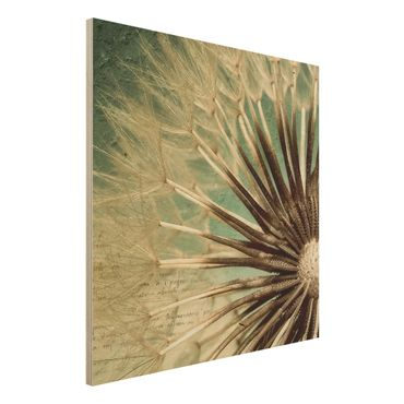 Holzbild Pusteblume - Closer than before - Quadrat 1:1