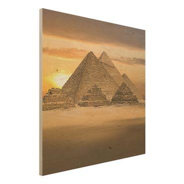 Bild aus Holz - Dream of Egypt - Quadrat 1:1