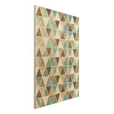 Wandbild Holz - Dreieck Rapportmuster - Hoch 2:3