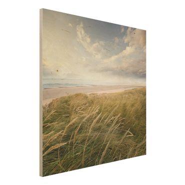 Holzbild Meer - Dünentraum - Quadrat 1:1
