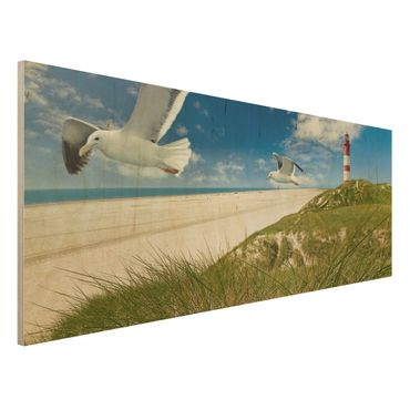 Holzbild Meer - Dune Breeze - Panorama Quer