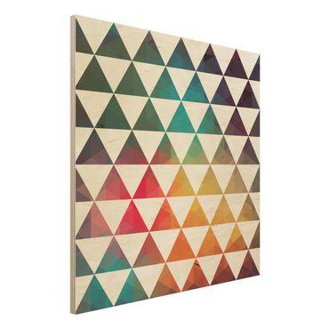 Holzbild - Farbgeometrie - Quadrat 1:1