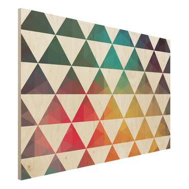 Holzbild - Farbgeometrie - Quer 3:2