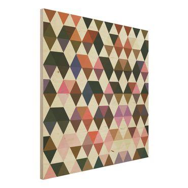 Holzbild - Geschicklichkeitsspiele Der Karo Indianer - Quadrat 1:1