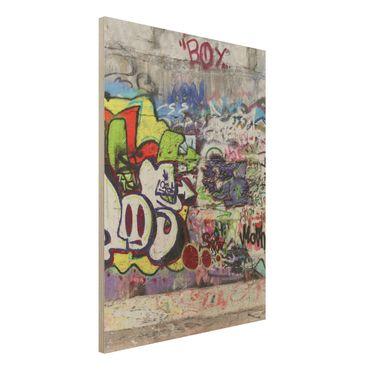 Holzbild - Graffiti - Hoch 3:4