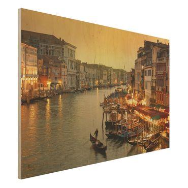 Holz Wandbild - Großer Kanal von Venedig - Quer 3:2