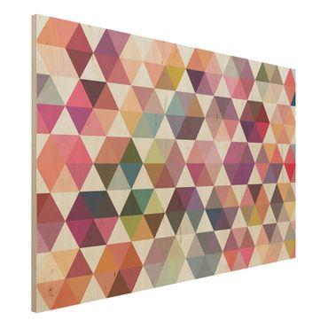 Wandbild Holz - Hexagon Facetten - Quer 3:2