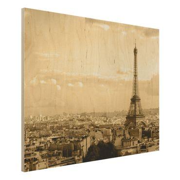 Holzbild - I Love Paris - Quer 4:3