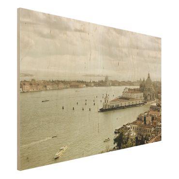 Holz Wandbild - Lagune von Venedig - Quer 3:2