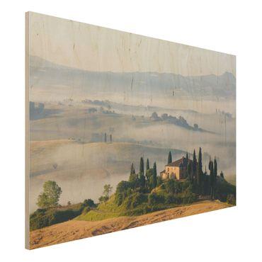 Holzbild - Landgut in der Toskana - Quer 3:2