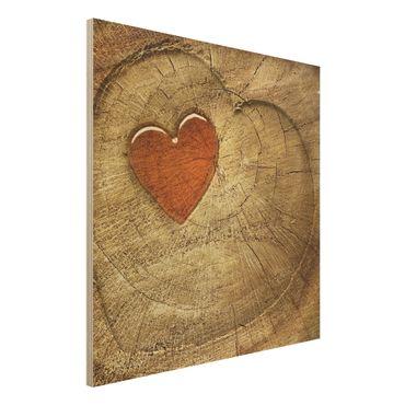 Holzbild - Natural Love - Quadrat 1:1