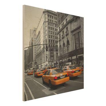 Holzbild - New York, New York! - Quadrat 1:1