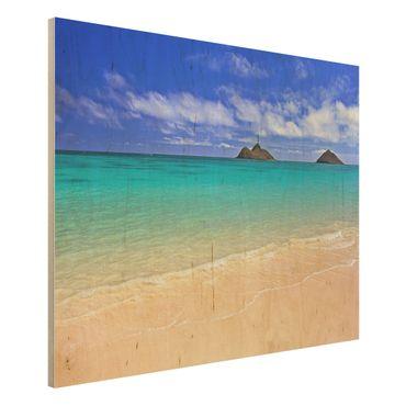 Holzbild Meer - Paradise Beach - Quer 4:3