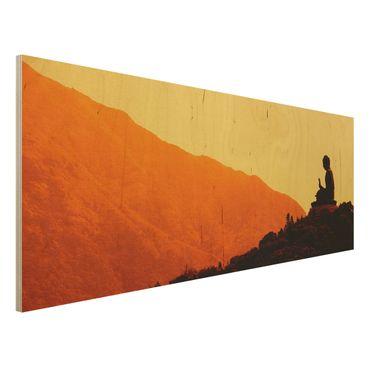 Holzbild Buddha - Resting Buddha - Panorama Quer