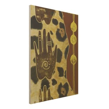 Wandbild Holz - Touch of Africa - Hoch 3:4
