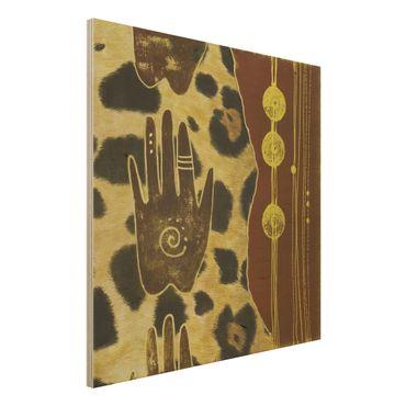 Wandbild Holz - Touch of Africa - Quadrat 1:1