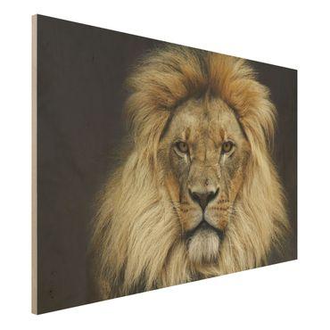 Holzbild - Wisdom of Lion - Quer 3:2