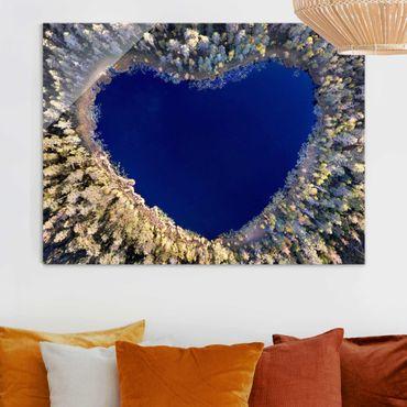 Glasbild - Im Herzen des Waldes - Querformat