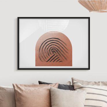 Bild mit Rahmen - Indigene Ton Geometrie - Querformat