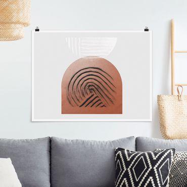 Poster - Indigene Ton Geometrie - Querformat 4:3