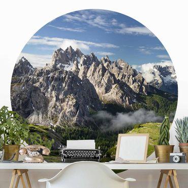 Runde Tapete selbstklebend - Italienische Alpen