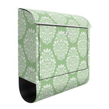 Briefkasten - Jugendstil Muster auf Grün