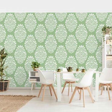 Fototapete - Jugendstil Muster auf Grün