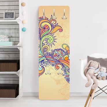 Kindergarderobe - Sommerillustration - Kinderzimmer Gelb