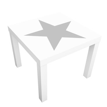 Beistelltisch - Großer grauer Stern auf Weiß