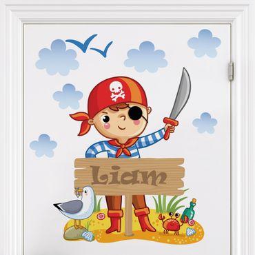 Kinderzimmer Wandtattoo Pirat mit Wunschname